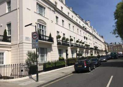 Chester Square, Belgravia, the last address of Margaret Thatcher, where we have enfranchised five houses.